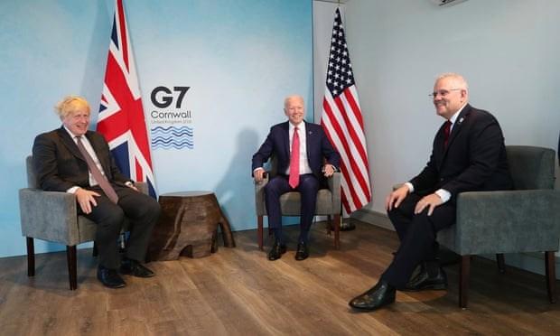 Nhà lãnh đạo của ba nước tại cuộc gặp lịch sử. Nguồn: theguardian