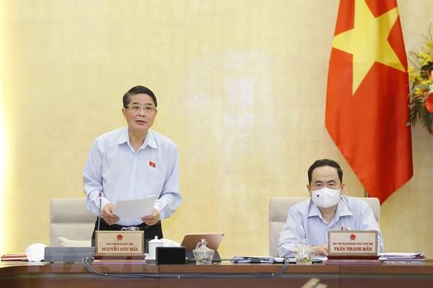 Phó chủ tịch Quốc hội Nguyễn Đức Hải điều hành nội dung phiên họp. Ảnh: Doãn Tấn/TTXVN