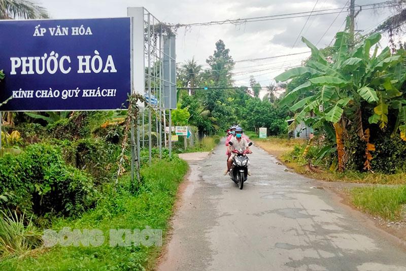Đường nông thôn ấp Phước Hòa, xã Thành Triệu.