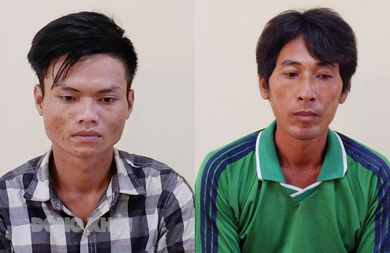 Bị can Bùi Đức Trọng và bbị can Trần Thanh Tuấn.