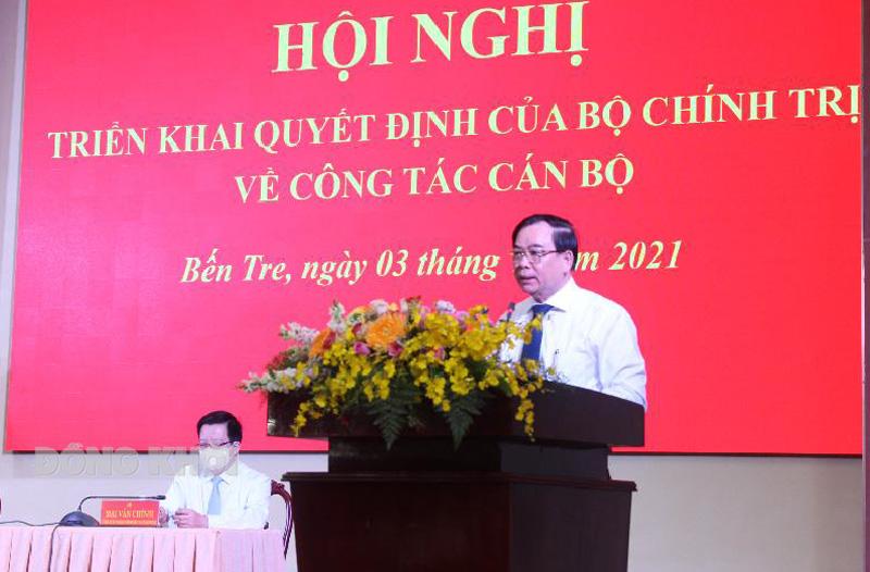 Phát biểu của Chủ tịch UBND tỉnh Trần Ngọc Tam. Ảnh: Hữu Hiệp