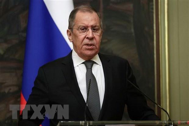 Ngoại trưởng Nga Sergey Lavrov. (Ảnh: AFP/TTXVN)