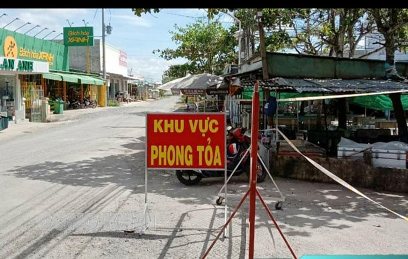 Phía Nam khu cách ly ấp Thạnh Nghĩa, xã Bảo Thạnh.