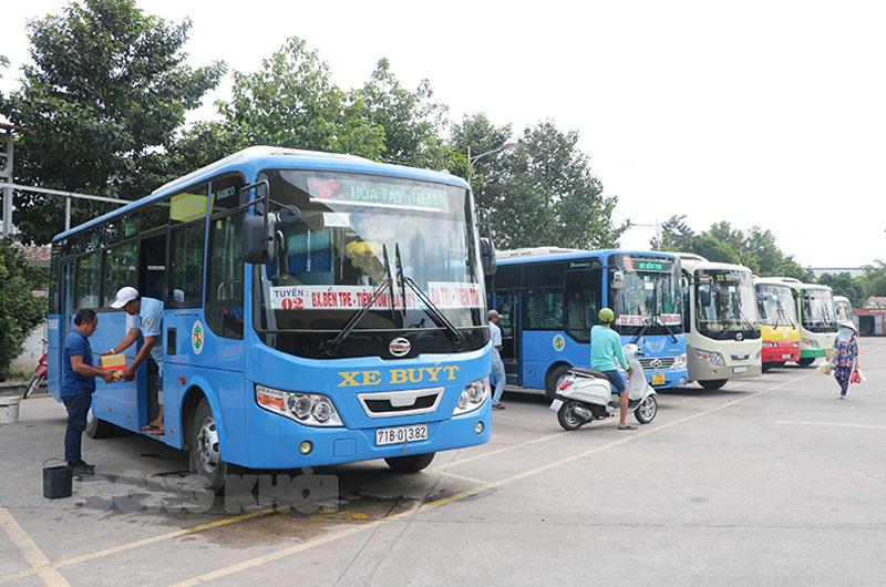 Từ 6 giờ 00 phút ngày 12-7-2021 tạm dừng hoạt động xe buýt, bến phà, bến khách ngang sông (ảnh chụp đầu năm 2021).
