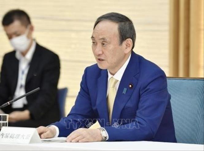 Thủ tướng Nhật Bản Suga Yoshihide tại cuộc họp ở Tokyo. Ảnh: Kyodo/TTXVN