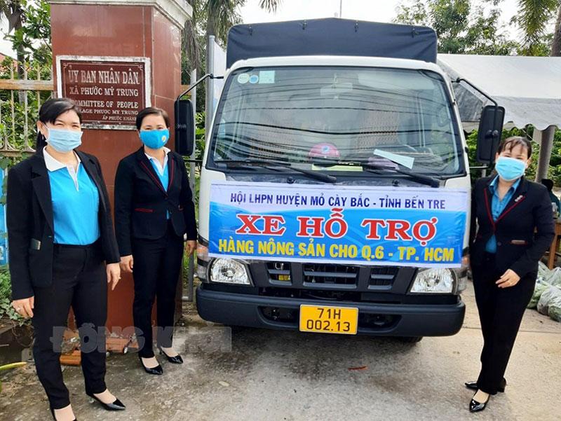 Vận chuyển hàng hóa hỗ trợ TP. Hồ Chí Minh. Ảnh: CTV