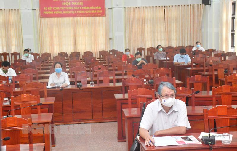 Các đại biểu dự ở điểm cầu tỉnh.