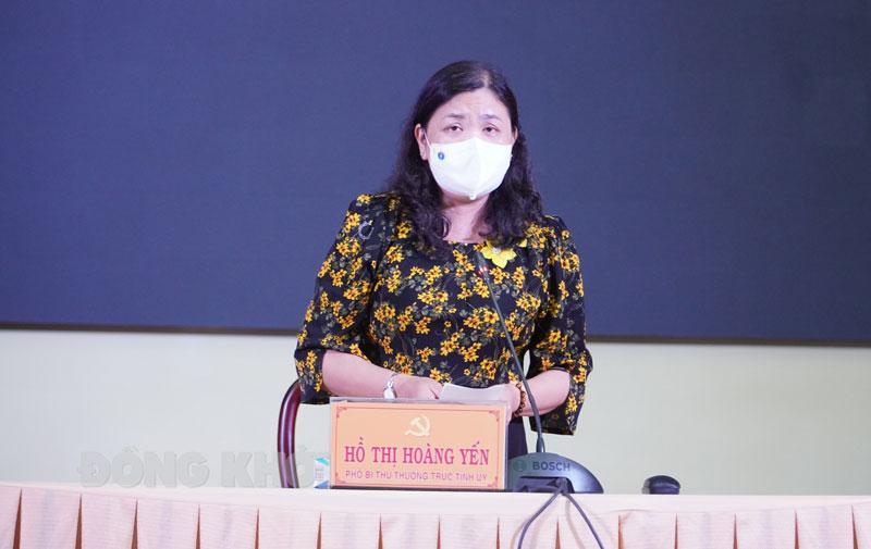 Phó bí thư Thường trực Tỉnh ủy - Chủ tịch HĐND tỉnh Hồ Thị Hoàng Yến