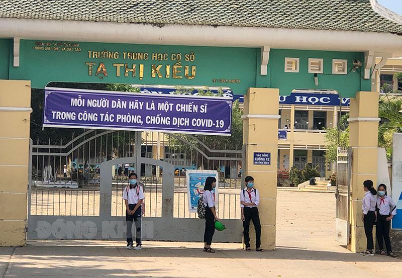 Trường THCS Tạ Thị Kiều. Ảnh: PV
