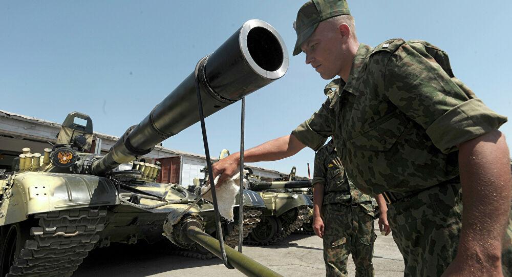 Binh sĩ Nga đồn trú tại Căn cứ Quân sự số 201 ở Dushanbe, Tajikistan. Ảnh: Sputnik