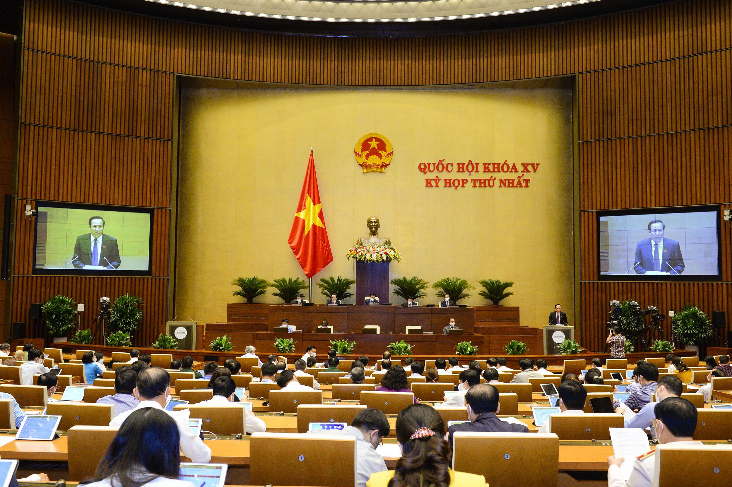 Kỳ họp thứ Nhất, Quốc hội khoá XV, ngày 24-7-2021.