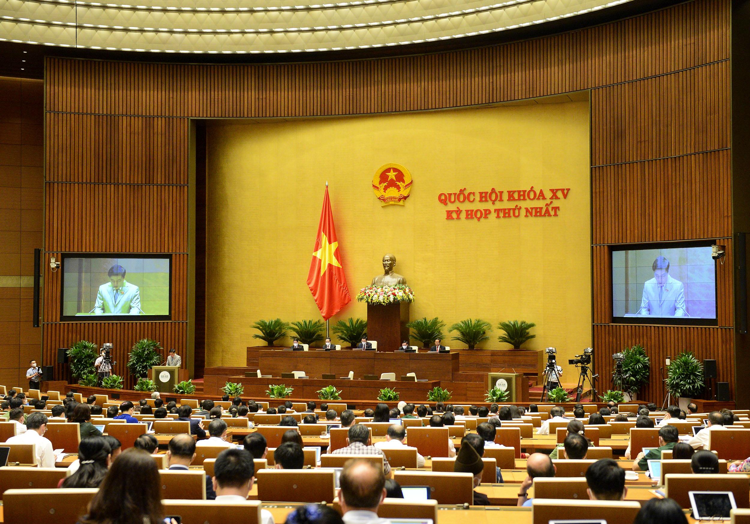 Kỳ họp thứ Nhất, Quốc hội khoá XV, ngày 25-7-2021