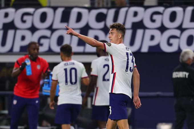 Matthew Hoppe ghi bàn duy nhất trận Mỹ vs Jamaica ở phút 83