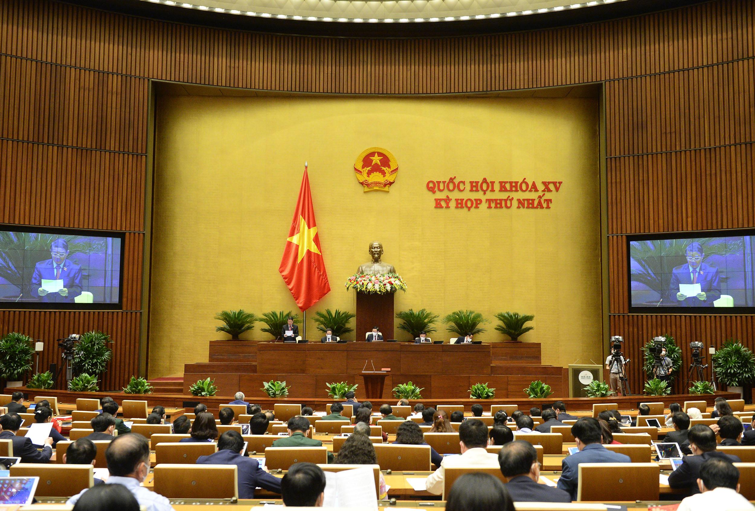 Kỳ họp thứ Ngất, Quốc hội khoá XV, ngày 26-7-2021.