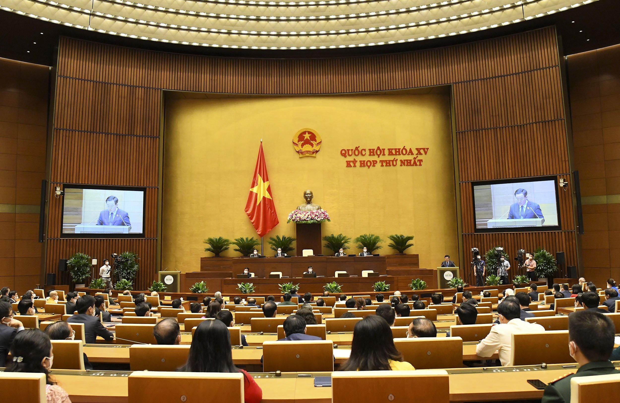 Các đại biểu Quốc hội dự Lễ bế mạc Kỳ họp thứ nhất, Quốc hội khoá XV
