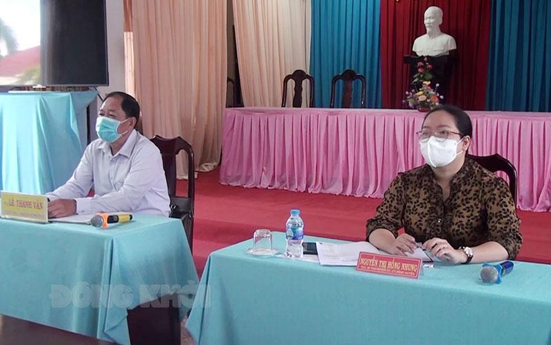 Trưởng ban Nội chính Tỉnh ủy Lê Thanh Vân tham dự hội nghị.