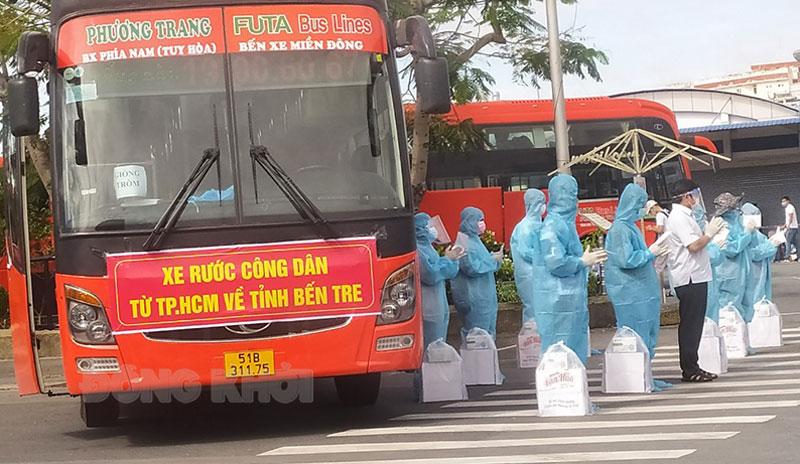 Hơn 10 giờ đoàn xe vào cao tốc TP. Hồ Chí Minh - Trung Lương.
