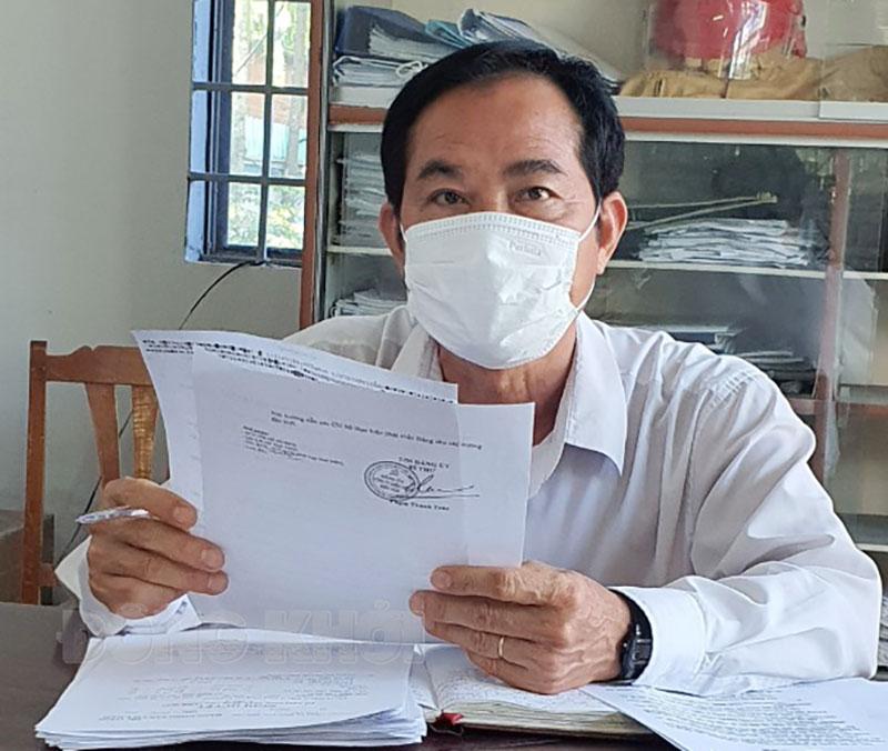 Bí thư Chi bộ Điện lực Mỏ Cày Nam Dương Thanh Liêm.