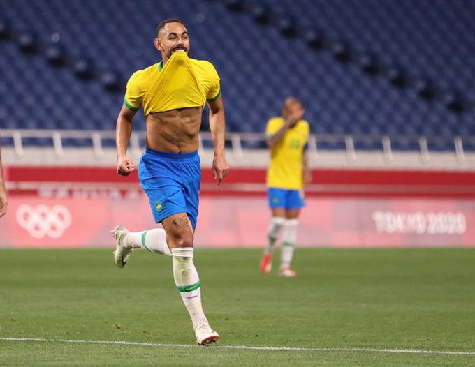 Cunha ghi bàn duy nhất trận U23 Brazil vs U23 Ai Cập