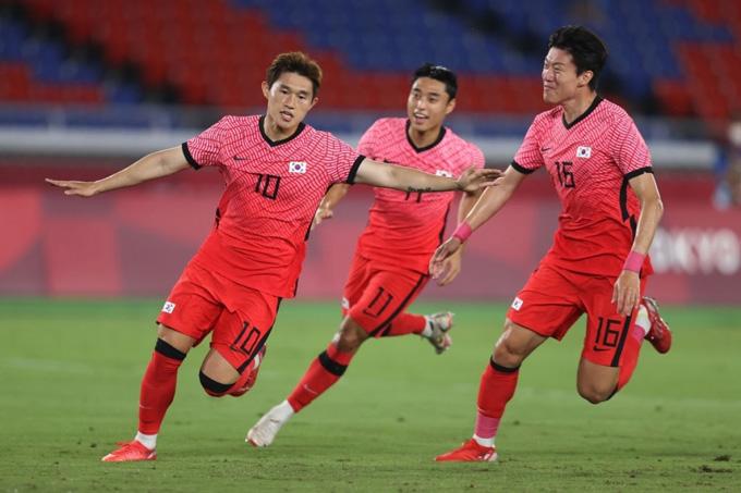 Lee Dong-joon gỡ hòa 1-1 trận U23 Hàn Quốc vs U23 Mexico ở phút 20