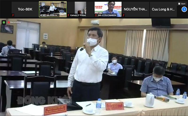 Thứ trưởng Trần Thanh Nam phát biểu chỉ đạo tại diễn đàn ngày 31-7-2021. (Ảnh chụp từ màn hình).