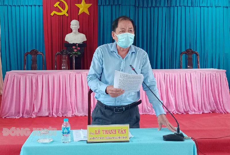 Trưởng ban Nội chính Tỉnh ủy Lê Thanh Vân lưu ý một số vấn đề cần quan tâm. Ảnh: Ngọc Vũ.