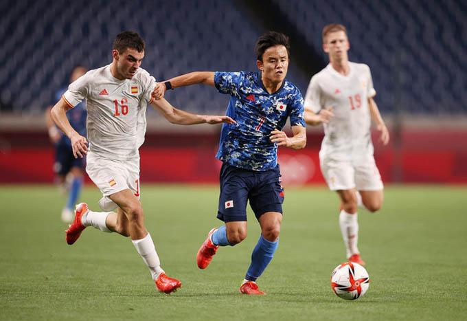 Kubo và các đồng đội có trận đấu hay trước U23 Tây Ban Nha