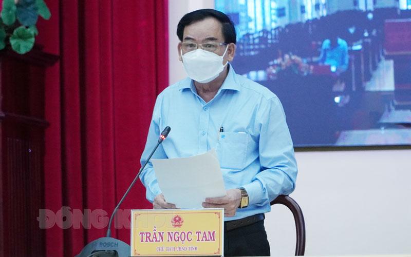 Chủ tịch UBND tỉnh Trần Ngọc Tam. Ảnh: Phan Hân