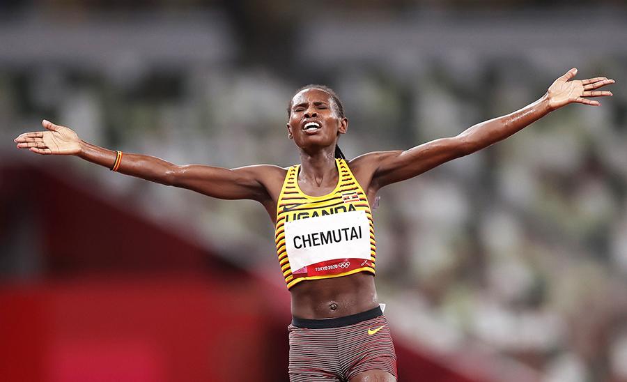 Peruth Chemutai xuất sắc giành HCV, lập kỷ lục quốc gia Uganda - Ảnh. W.A
