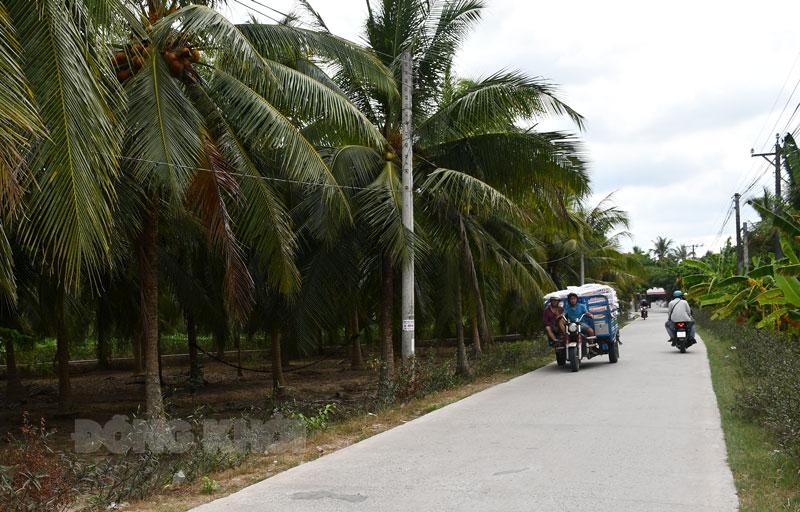 Đường nông thôn mới xã An Phước, huyện Châu Thành: Ảnh: Hữu Hiệp