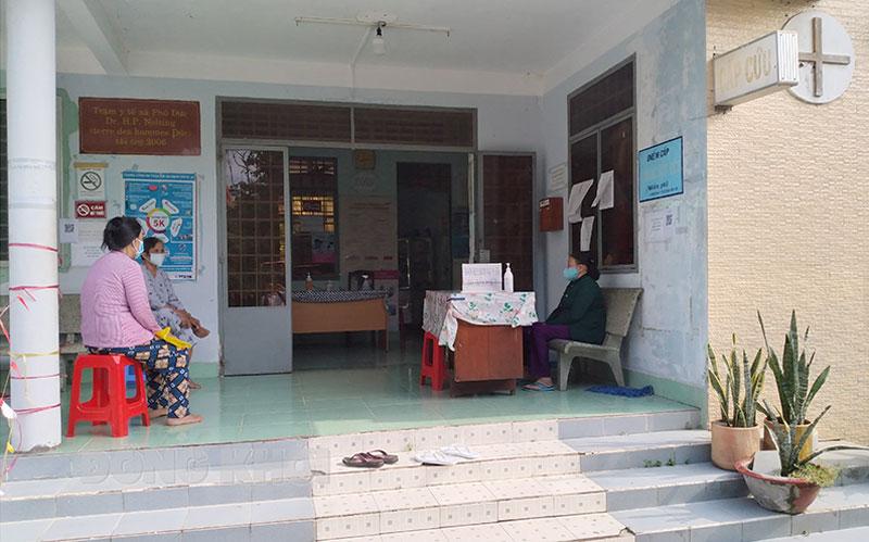 Trạm Y tế xã Phú Đức.