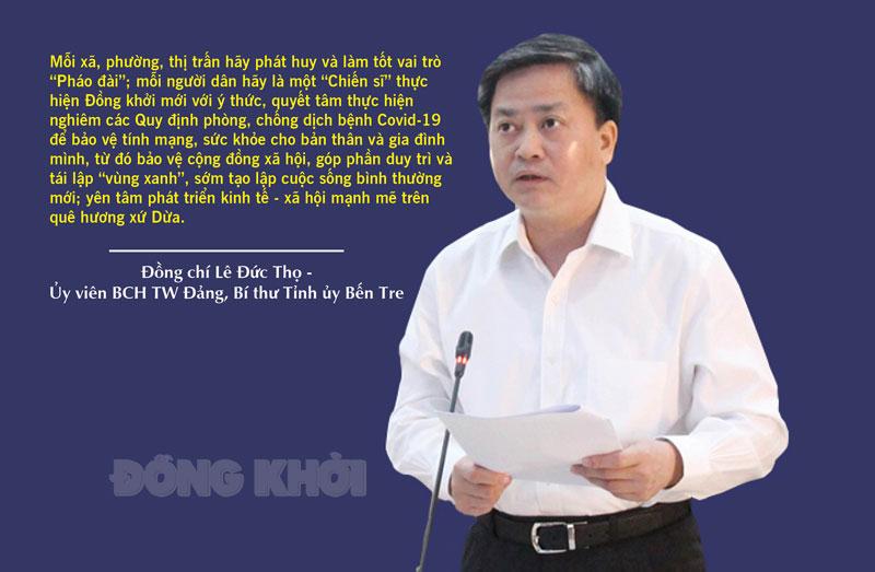 Bí thư Tỉnh ủy Lê Đức Thọ.