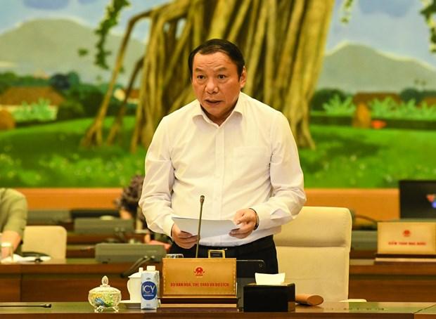 Bộ trưởng Bộ Văn hóa, Thể thao và Du lịch Nguyễn Văn Hùng. Nguồn: Quochoi.vn