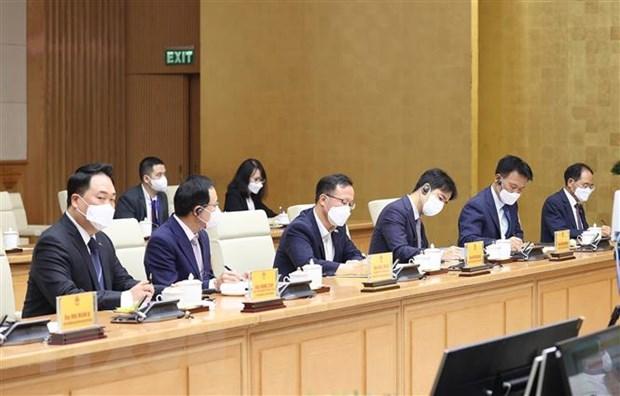 Đại diện các doanh nghiệp Hàn Quốc tại Việt Nam tham dự buổi làm việc. (Ảnh: Dương Giang/TTXVN)