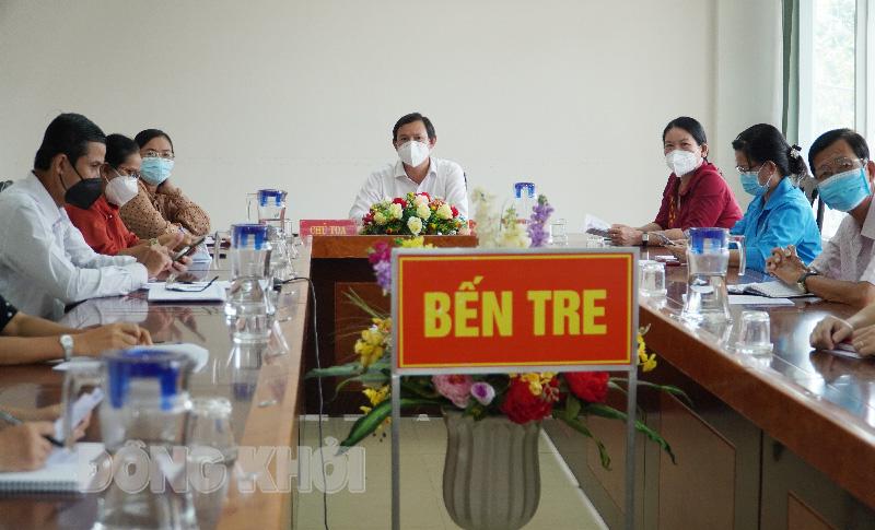 Các đại biểu dự tại điểm cầu Ủy ban MTTQ Việt Nam tỉnh