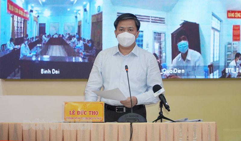 Đồng chí Bí thư Tỉnh ủy chủ trì họp trực tuyến Ban Chỉ đạo phòng, chống dịch bệnh Covid-19 tỉnh.