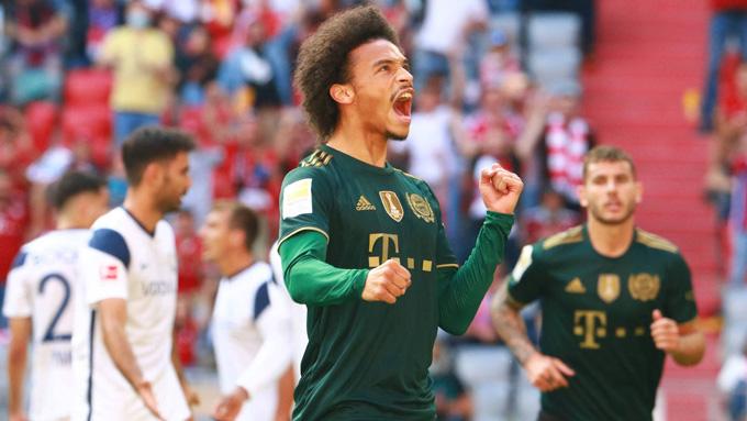 Sane tỏa sáng ở trận Bayern vs Bochum với 1 bàn thắng cùng 1 kiến tạo