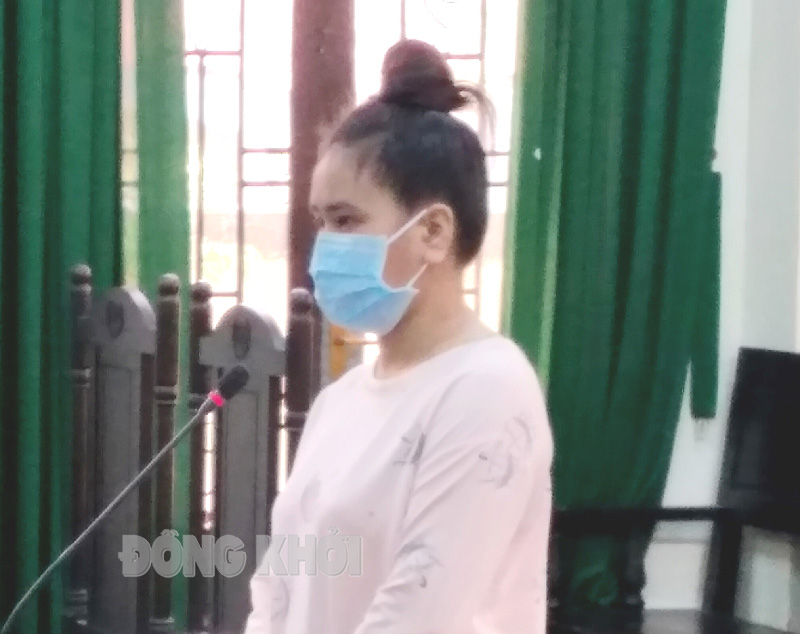 Bị cáo Tuyền tại phiên tòa ngày 20-9-2021.