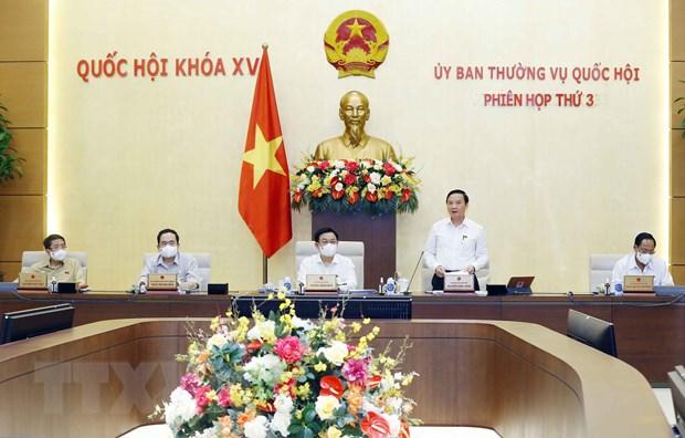 Phó Chủ tịch Quốc hội Nguyễn Khắc Định phát biểu kết luận Phiên họp. (Ảnh: Doãn Tấn/TTXVN)