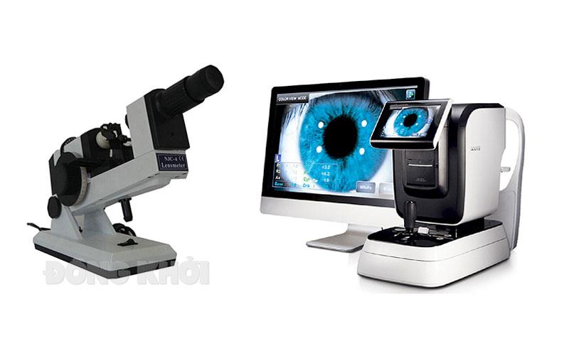Ảnh minh họa: Phương tiện đo tiêu cự kính mắt và phương tiện đo độ khúc xạ mắt.