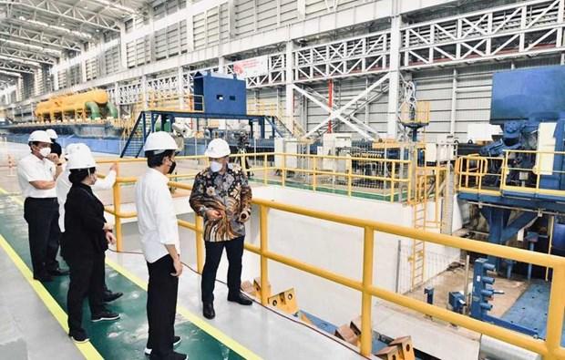 Tổng thống Jokowi tại nhà máy thép. Nguồn: beritasatu.com