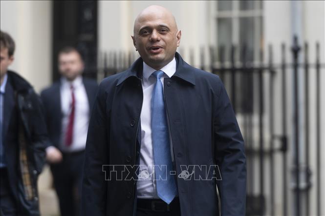 Ông Sajid Javid, lúc đương nhiệm chức Bộ trưởng Tài chính Anh. Ảnh: THX/TTXVN