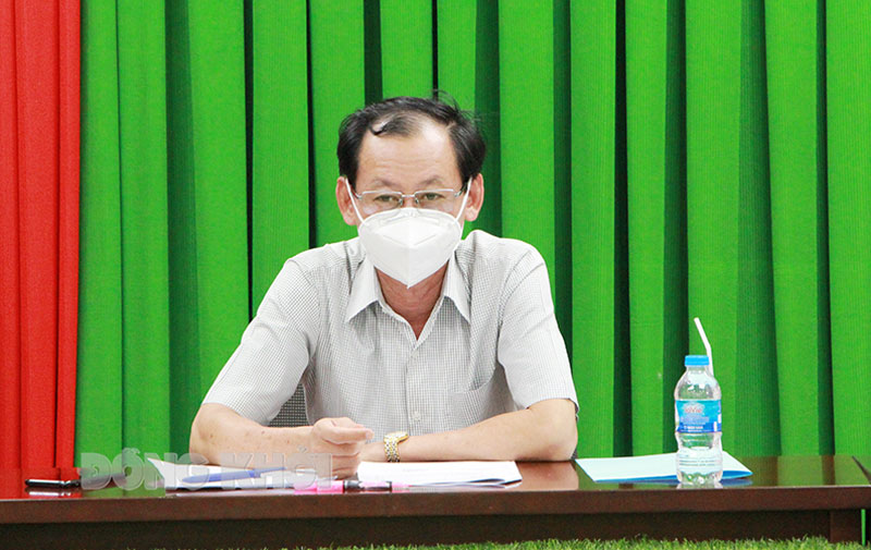 Phó chủ tịch UBND tỉnh Nguyễn Minh Cảnh phát biểu kết luận buổi làm việc.