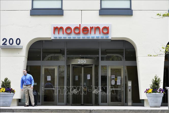 Trụ sở hãng dược Moderna tại Cambridge, Massachusetts, Mỹ. Ảnh: AFP/ TTXVN