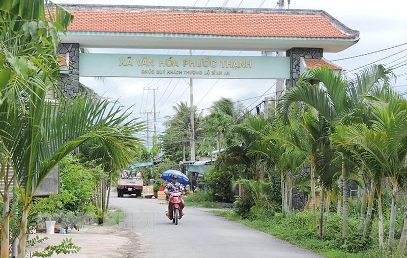 Phước Thạnh tập trung phát triển kinh tế, hướng đến xây dựng xã nông thôn mới.