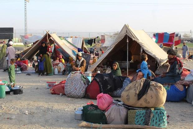 Người tị nạn Afghanistan tại khu vực biên giới Afghanistan và Pakistan, ngày 31-8-2021. Ảnh: AFP/TTXVN