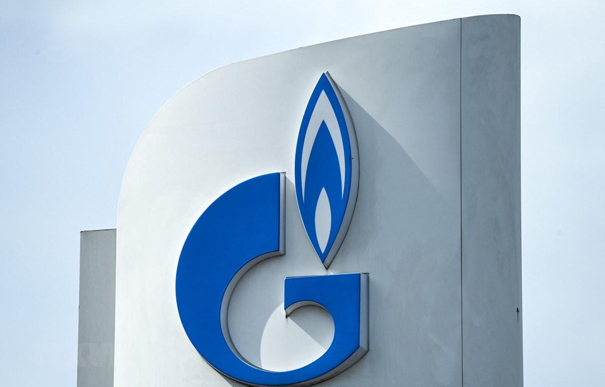 Biểu tượng Gazprom tại Moskva, Nga. (Ảnh: AFP/TTXVN)