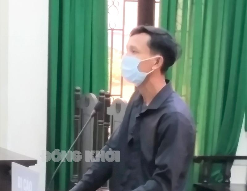 Bị cáo Tùng tại phiên tòa.
