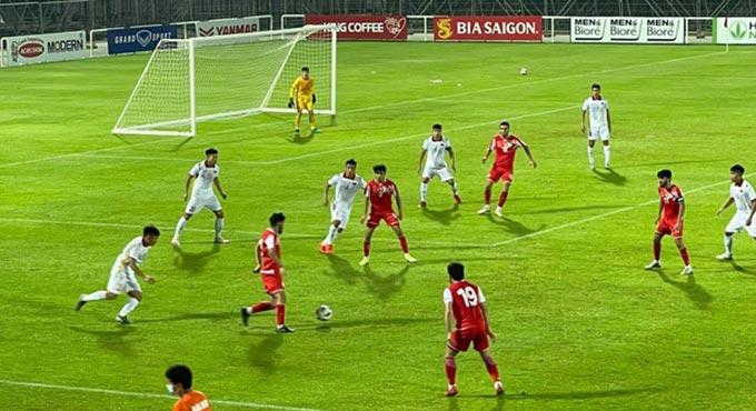 U22 Việt Nam chủ động chơi phòng ngự trong hiệp 1 nên không tạo ra nhiều tình huống nguy hiểm về phía đối thủ