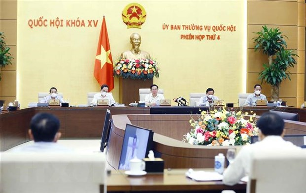 Chủ tịch Quốc hội Vương Đình Huệ phát biểu. Ảnh: Doãn Tấn/TTXVN